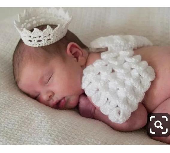 Asa De Anjo Com Coroinha De Croche (newborn)