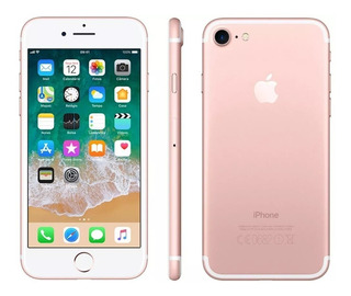 iPhone I7 128gb Rose De Vitrine Garantia Apple +capa Brinde
