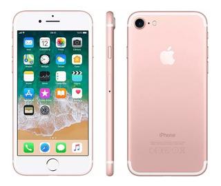 iPhone I7 128gb Rose De Vitrine Garantia Apple +capa Brinde