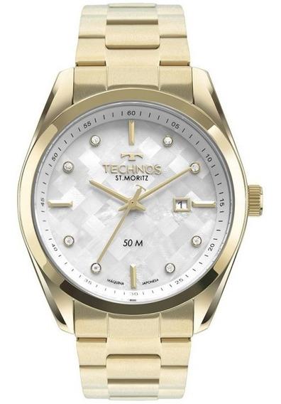 Relógio Masculino Technos Dourado Elegance 2117lcj/4b