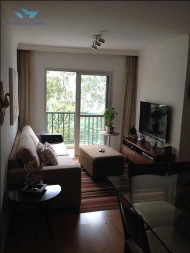 Imagem 1 de 30 de Apartamento À Venda, 69 M² Por R$ 410.000,00 - Morumbi - São Paulo/sp - Ap0592