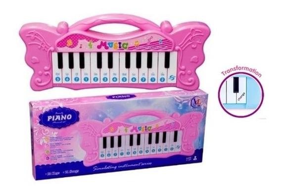 Piano Teclado Musical Infantil Brinquedo Menino Menina