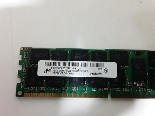 Memoria Ram Ddr3 16gb  Pc3l 10600r Para Servidores