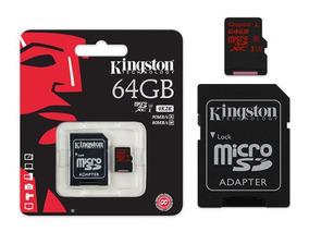 Cartão De Memória Micro Sdxc 64gb Com Adaptador Sd