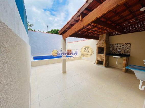 Casa Nova Lado Praia C/ Piscina Em Mongaguá Ref 8074 E