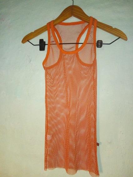 Musculosa De Red Naranja