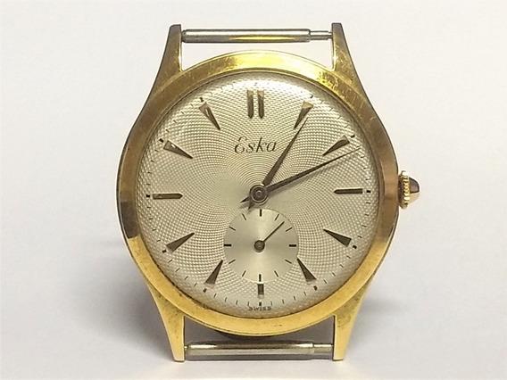 Relógio Pulso Eska 11834 Anos 50 S/ Uso Plaquê Ouro 20 Mc