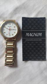 Relógio Masculino Analógico Magnum - Branco/dourado