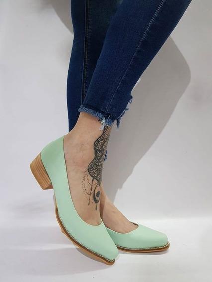 Zapatos Stiletto Taco Bajo