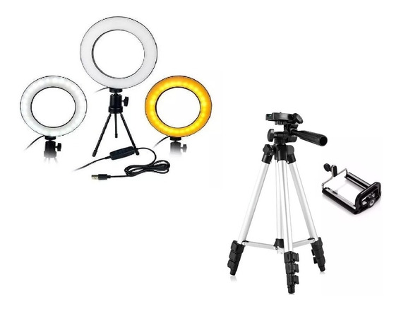 Kit Iluminador Led Circular Beauty Ring Light + Tripé 3110