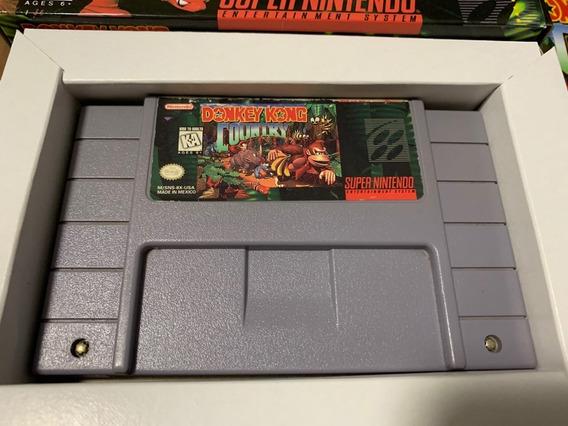 Donkey Kong Country Original Snes Completo Super Nintendo