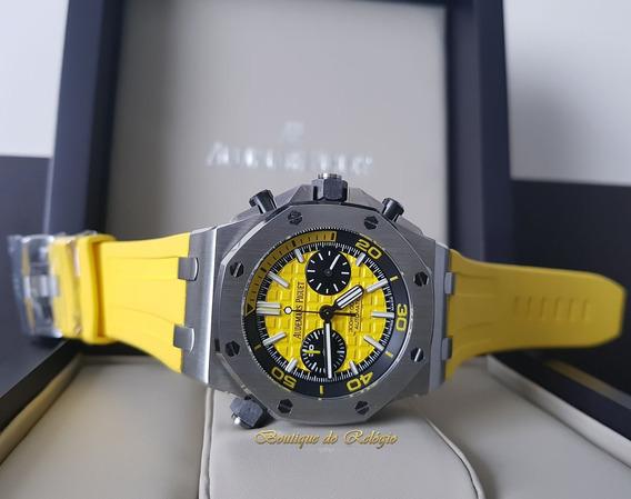 Relógio Modelo Diver Chronograph Dial Amarelo - 42mm