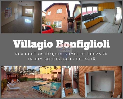 Lindo Sobrado No Condomínio Villagio Bonfiglioli ! Butantã / Sp - So0071