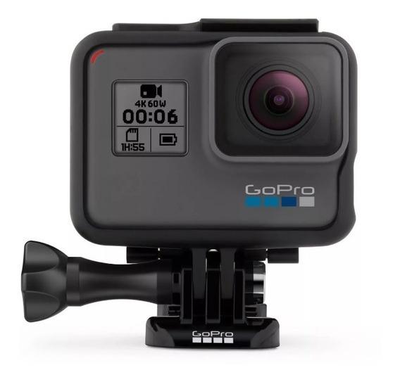 Câmera Filmadora Gopro Hero 6 Black 4k + Microsd Extreme 32 Gb E Acessórios