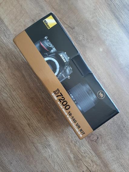 Câmera Dslr Nikon D7200 Com Kit De Lente 18-140mm