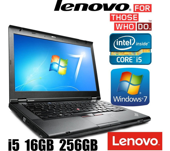 Notebook Lenovo T430 Core I5 3 Ger 16gb Ssd 240gb