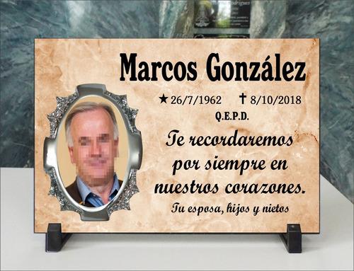 Imagen 1 de 5 de Placa Cementerio Recordatoria Con Foto Acrílica 15x20 Pc101