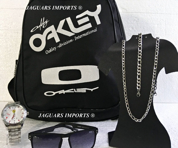 Kit Relógio Masculino Mochila+correntinha+óculos Atacado Top