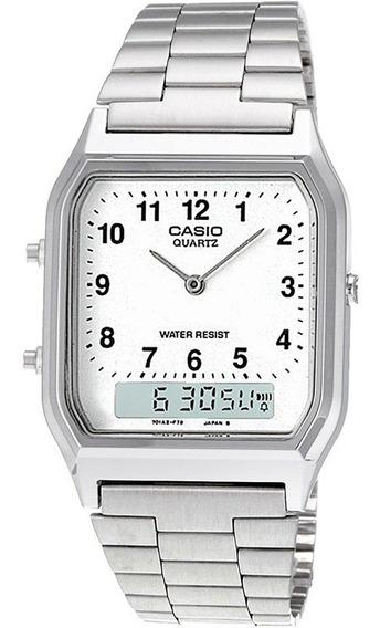 Relógio Casio Vintage Aq-230a-7bmq Unissex