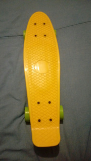 Skateboard De 56cm Color Amarillo Semiusado