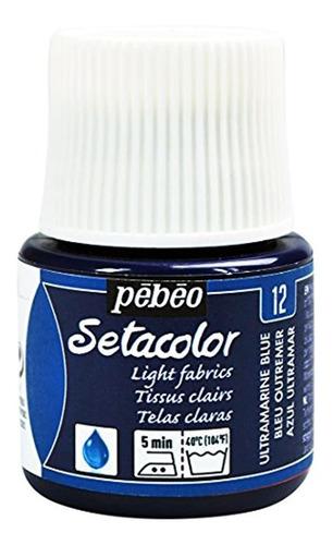 Pebeo Setacolor Telas Ligeras Pintura Botella De 45 Mililitr