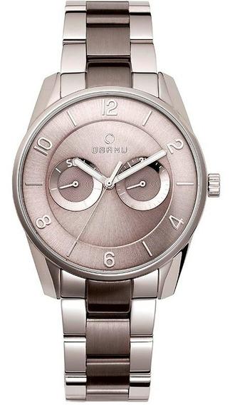 Reloj Obaku Flint-steel Bi V171gmcjsj Acero Gris Oscuro Para Hombre Original