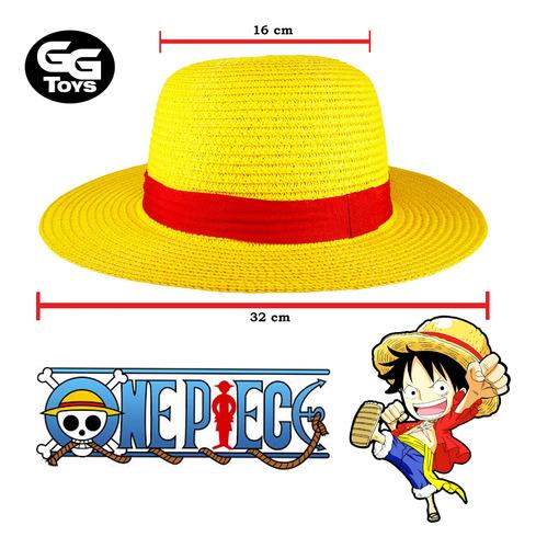 Imagen 1 de 2 de Sombrero De Paja Luffy One Piece Cosplay Circuferencia 55 Cm