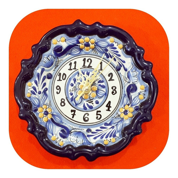 Reloj Chico 16 Cm De Talavera Poblana