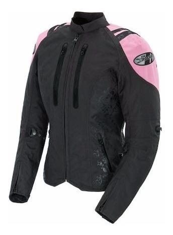 Campera Moto Joe Rocket Atomic 4.0 Mujer Rosa Protecciones