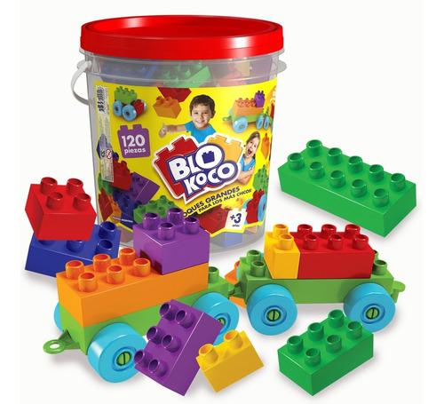 Blokoco - Balde 120 Bloques Grandes