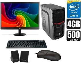 Computador Intel Core I3 + Monitor De 18,5 + Kit Multimídia!