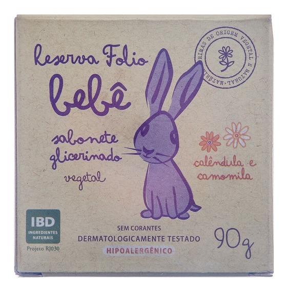 Sabonete Glicerinado Vegetal Natural De Calêndula E Camomila Para Bebê 90g Reserva Folio