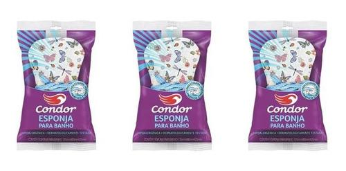 Condor Esponja P/ Banho C/ Cordão (kit C/03)