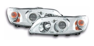 Farol Led Angel Eyes Peugeot 306 1999 A 2004 Cromado