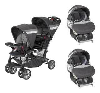 Carriola Baby Trend Doble Sit N Stand Con 2 Portabebes