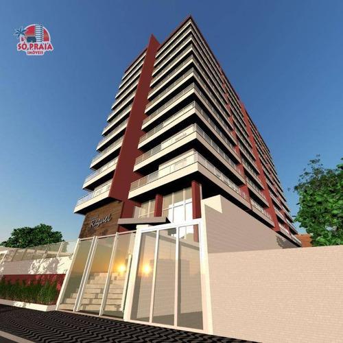 Apartamento Com 2 Dormitórios À Venda, 65 M² Por R$ 330.000,00 - Aviação - Praia Grande/sp - Ap2715