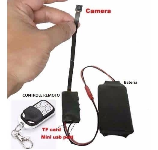 Micro Câmera Espiã, Dvr , Detector De Movimento