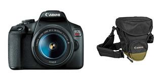 Cámara Reflex Canon Eos Rebel T7 18 55 + Estuche Canon +sd
