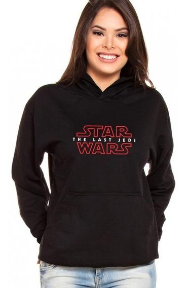 Moletom Canguru Feminino Star Wars The Last Jedi