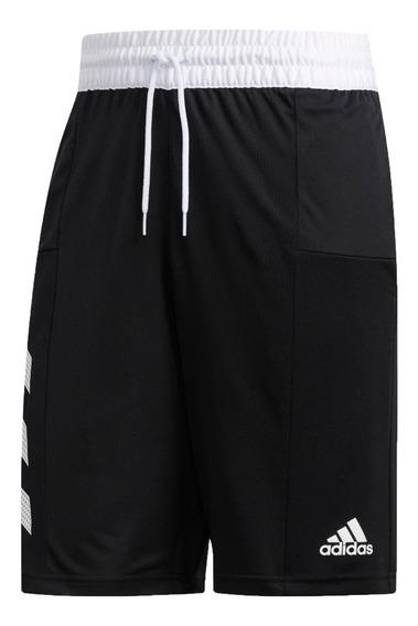 adidas Short Basquet Hombre Spt 3s Negro - Blanco