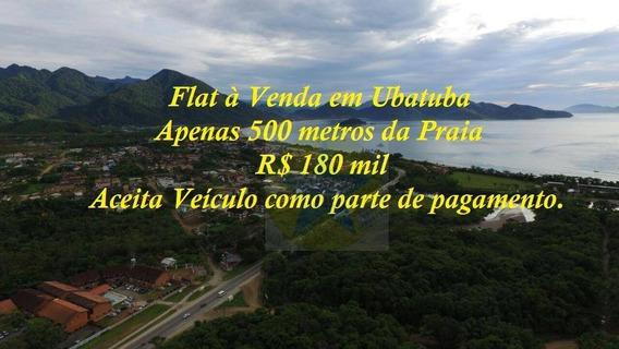 Flat Residencial À Venda, Maranduba, Ubatuba. - Fl0001