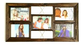 Portaretrato Multiple X5 Fotos Cuadro De Pared Colgante Porta Retrato