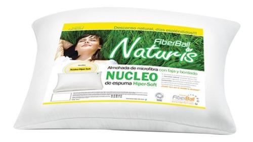 Almohada Vellon Y Espuma Naturis Nucleo Fiberball 70x45