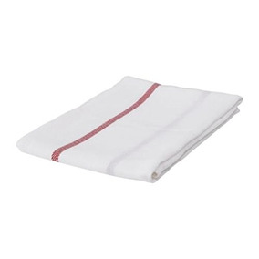 Ikea Dish Towel 101.009.09, Paquete De 20, Blanco, Rojo