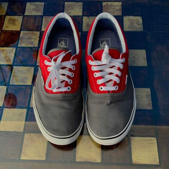 Zapatillas Vans Era (rojo/gris)