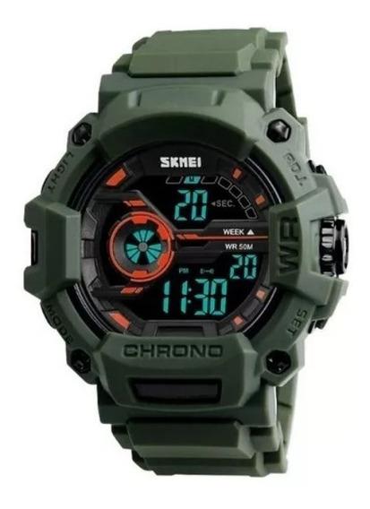 Relógio Masculino Skmei Digital Militar 1233 Exército Verde