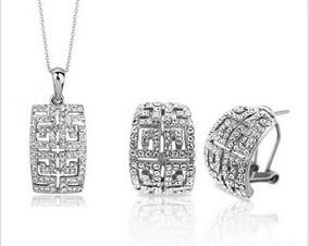 Conjunto Cristal Austríaco Luxo