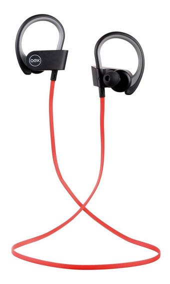 Fone De Ouvido Bluetooth Oex Headset Hs303 -vermelho/preto