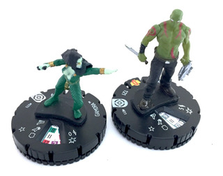 Wizkids Heroclix Galactic Guardians Gamora #033 Y Drax #011