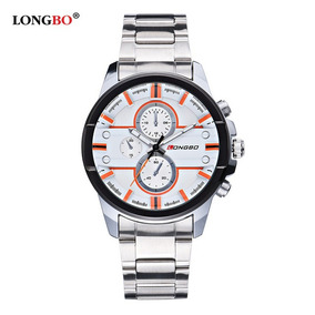 Relógio Longbo Social Water Em Aço Inox